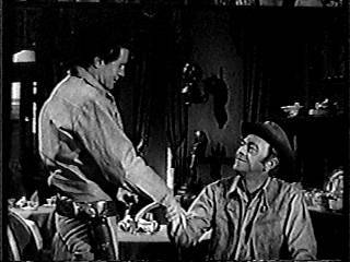 Bob, as Flint, with John McIntyre as Wagonmaster Chris Hale